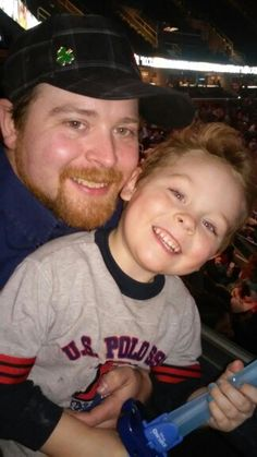 Daddy and Brandon at the Q