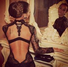 Rückenfreies Kleid, Dress, Woman, Beautiful, Elegant, Spitze, Durchsichtig, Kleidung,