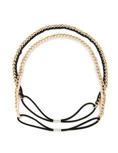 Chain Link Ribbon Headwrap Set: Charlotte Russe