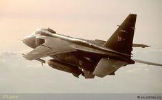 French Armée de l'Air Sepecat Jaguar returning from a mission in Bosnia 1993.