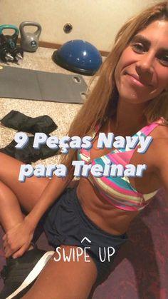 9 Peças Navy para #Treinar👇🏽 Fitness, T Shirt, Women, Fashion, Discount Codes, Kitchen, Supreme T Shirt, Moda, Tee Shirt