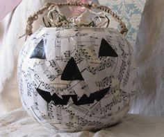 pumpkin black and white  halloween decor bowl trick or treat SALE