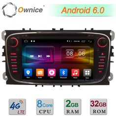 2GB+32GB Android 6.0 Octa Core 4G DAB Car DVD Player For Ford Focus Mondeo S-max Galaxy Tourneo Transit Connect GPS Navigation #Affiliate