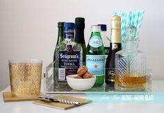 Jess LC - The Mini-Mini Bar - Add a pretty tray + some nice barware in the dining room?