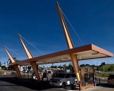 Johnson's Wilshire Gas Station 4689 Market Street, San Diego. The resource embodies the distinctive characteristics and character defining features of Googie architecture and retains a good level of architectural integrity from its 1962 period of significance.
