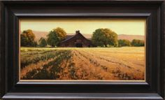 Kevin Courter painting, Harvest of Gold, 10x20
