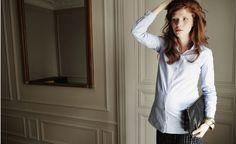 Mode et grossesse /  Fashion and Pregancy :  Émoi Émoi - Chemise BELLYBUTTON Jupe POMKIN