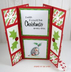 Penny Black Holly Day Critters Never Ending card Sue's Stamping Stuff