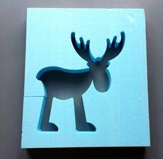 Deko-Objekte - Betongiessform Rentier / Elch 34 cm - ein Designerstück von BIF-Hermes bei DaWanda