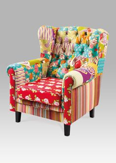 AK-769 PW2 Wingback Chair, Armchair, Accent Chairs, Furniture, Home Decor, Scrappy Quilts, Womb Chair, Homemade Home Decor, Wingback Chairs