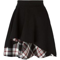 Alexander McQueen ruffled A-line skirt