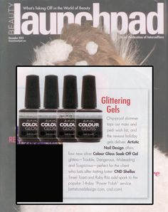 "Artistic Nail Design ""What Kind of Woman Are You?"" 2012 Holiday Collection featured inside the December 2012 issue of Beauty Launchpad Magazine."