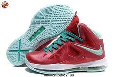 Varsity Red Fresh Green-White Nike Lebron X (10)