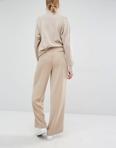 Image 2 ofPaisie Wide Leg Trousers With High Waist And Side Pockets