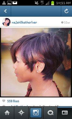 trendy Short Hairstyles for Black Women 2014 Short Sassy Hair, Short Hair Cuts, Pixie Cuts, Short Pixie, Curly Hair Styles, Natural Hair Styles, Pixie Styles, Hair Laid, Hair Affair