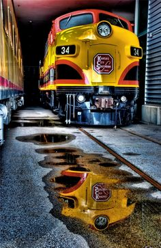 Train reflection in HDR