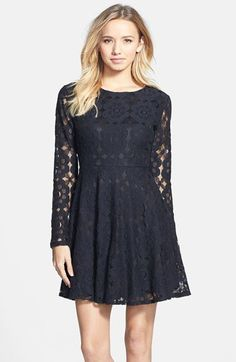 e60baf894b2b Painted Threads Floral Lace Skater Dress (Juniors)