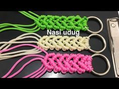 Cara membuat handle tas tali kur motif gelombang by nasiudug - YouTube