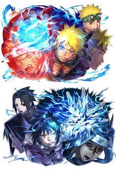 Naruto y Sasuke Naruto Vs Sasuke, Naruto Fan Art, Anime Naruto, Naruto And Sasuke Wallpaper, Wallpaper Naruto Shippuden, Naruto Shippuden Anime, Sasunaru, Sasuke Sarutobi, Anime Ninja