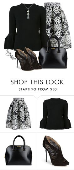 """""""Sunday Morning"""" by rita-anne ❤ liked on Polyvore featuring Chicwish, Carolina Herrera, Ted Baker, Jimmy Choo and DaVonna"""