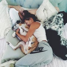All I want In life is a bed this big and big ol puppy dogs to snuggle up with