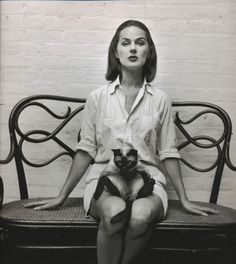 Carol McCallson, 1955.   by William Claxton
