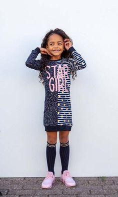 STAR GIRL! Een super leuk en hip jurkje uit de feestcollectie van O'Chill! Super tof als schooloutfit maar ook zeker voor de feestdagen! #kinderkleding #meisjes #girlslook #fashion #jurk #herfst #winter #lente #2019 # Party Looks, Shirt Dress, T Shirt, Dresses, Fashion, Supreme T Shirt, Vestidos, Moda, Shirtdress