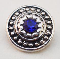 12mm Snap - Medallion, Blue Center Star