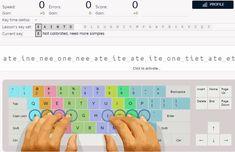 Keybr es una genial aplicación web para aprender a escribir sin mirar al teclado y hacerlo cada vez más rápido y sin cometer errores.