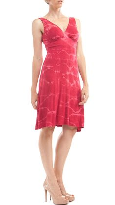 You could wear this beautifully!  Martinique Tie Dye Dress, Chili Pepper TD by EcoSkin