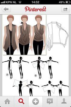 Vest/wrap top
