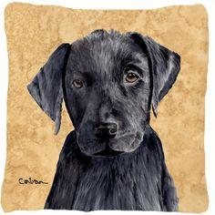 Labrador Decorative Canvas Fabric Pillow
