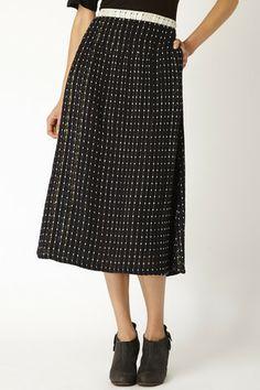 ace&jig fall13 black pindot midi skirt at Accompany