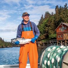Fresh catch coming in at The Saltry Restaurant in Halibut Cove, Alaska. Coastalliving.com