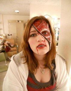 Zipper skin - great Halloween costume idea