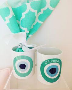 wedding & baptism favor exclusively @cottonprince.gr evileye coffee mug