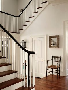 Stunning Greek Architectural Residence with Vintage Furniture Inside: Striking Traditional Entry Design With Classic Armchair And Staircase Greek Revival ~ druyork.com Architecture Inspiration