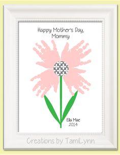Flower Handprint Art  Personalized Baby by CreationsbyTamiLynn, $20.00