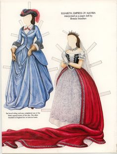 Immensely pretty Georgian era paper doll fashions (that I'd rather love to wear…