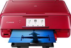Canon - Pixma TS8120 Wireless All-In-One Printer - Red