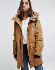 Carhartt WIP   Carhartt WIP Oversized Siberian Parka Jacket With Removable Fur Hood