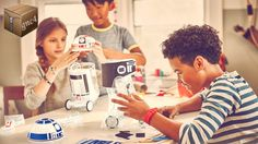 Kids can create their own Droid and bring it to life using littleBits electronic blocks! With the Droid Inventor app, they'll give their Droid new abilities and