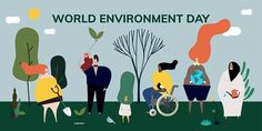 World environment day concept illustration Free Vector Green Environment, World Environment Day, Free Vector Illustration, Free Illustrations, Ocean Day, Arbour Day, Profile Picture For Girls, Oceans Of The World, Earth Day