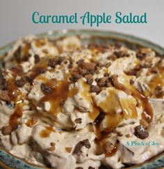 10 sweet treats to Pin ~ delicious features from the {whats shakin} link party Shaken Together, Snickers Apple Salad Recipe {Easy Fruit Des. Taffy Apple Salad, Caramel Apple Salad, Snicker Apple Salad, Apple Salad Recipes, Jello Recipes, Easy Salad Recipes, Caramel Apples, Dessert Recipes, Yummy Recipes