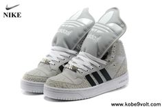 Cheap Discount Adidas X Jeremy Scott Big Tongue Villi Shoes Khaki White Latest Now