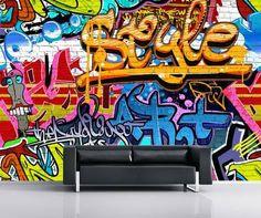 Graffiti Wall Mural Wallpaper Mural - AllPosters.co.uk