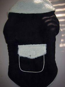 Zack Zoey 12 inch Sherpa Dog Small Jacket Black New with Tags | eBay