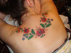 Hungarian folk art tattoo