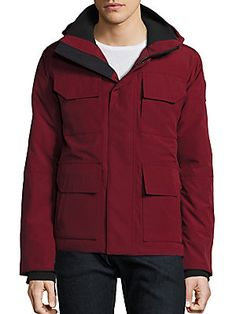 Canada Goose Maitland Hooded Parka Black Label In Grape Hooded Parka, Canada Goose, Hoods, Rain Jacket, Windbreaker, Label, Mens Fashion, Stylish, Long Sleeve