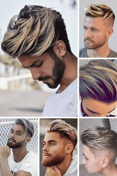 100 Trending Haircuts for Men (Haircuts for – Beauty Hacks Dyed Hair Men, Men Blonde Hair, Undercut Hairstyles, Boy Hairstyles, Young Men Haircuts, Men's Haircuts, Haircut Parts, Gents Hair Style, Mens Hair Colour